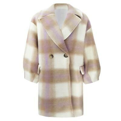 Las Lunas Lumina coat Beige / Lila Short