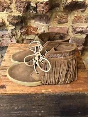 Cha Boots Sneaker Fringle Afelpado vison(Outlet)