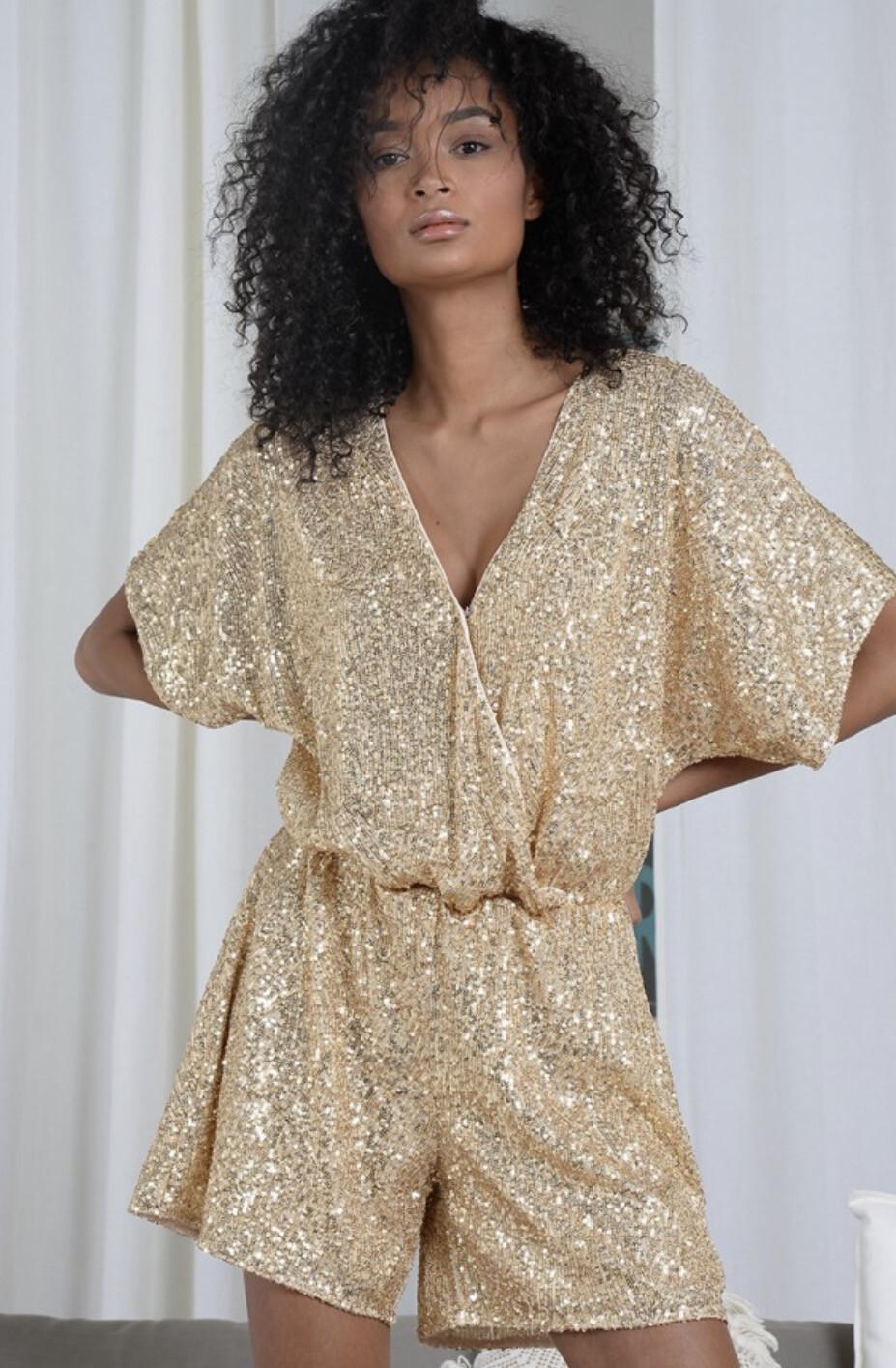 Molly Bracken Beyoncé Playsuit - Gold