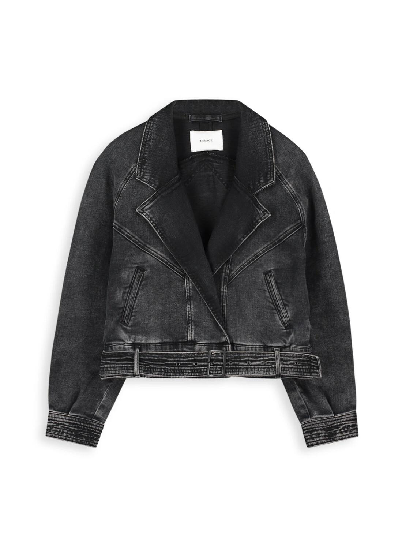 Homage Denim Jacket Retro - Washed Black
