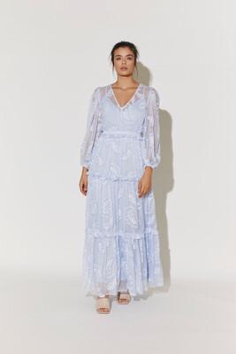 By Malina Delphine Dress - Sky Blue