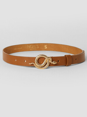 Notes Du Nord Milo Belt Cognac - Gold