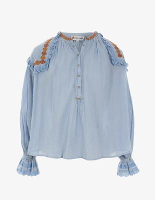 Antik Batik Pietro Embroidered Blouse - Licht Blue