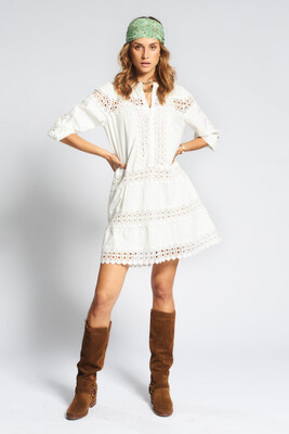 Moliin Jencis Dress - Off White