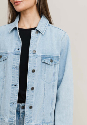 Rut & Circle Lova Jacket - Jeans Mid Blue