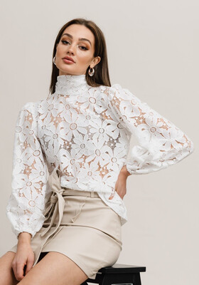Rut & Circle Sandy Lace Top - White