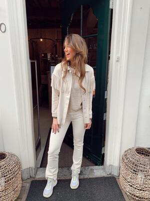 Rut & Circle Niki Bootcut Jeans - Light Beige