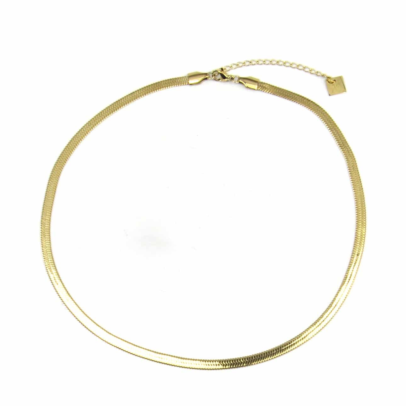 Zag Bijoux Chain Snake   Gold