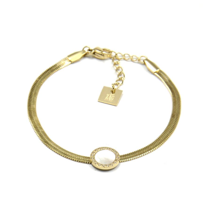 Zag Bijoux Bracelet Snake Chain Luxury Pendant | Gold