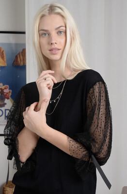 Molly Bracken Rocky Lace Sweater - Black
