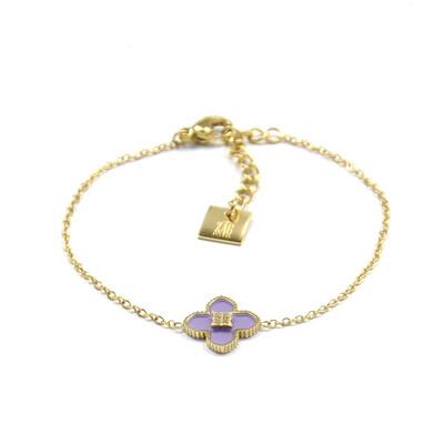 Zag Bijoux Armband Violet Sparkle | Goud