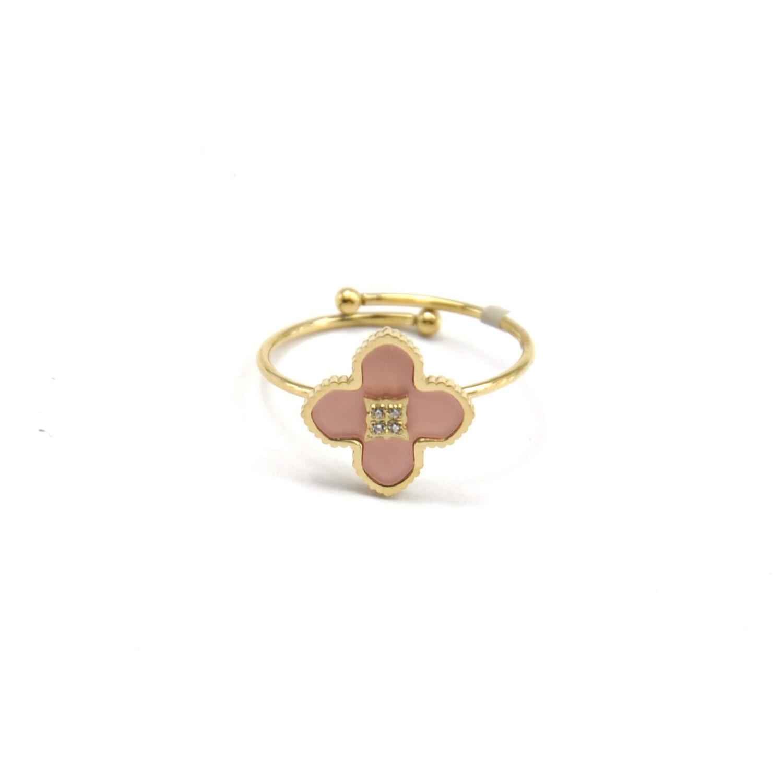 Zag Bijoux Pastel Pink Sparkle | Goud