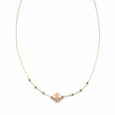 Zag Bijoux Chain Klavertjevier Sunstone | Goud
