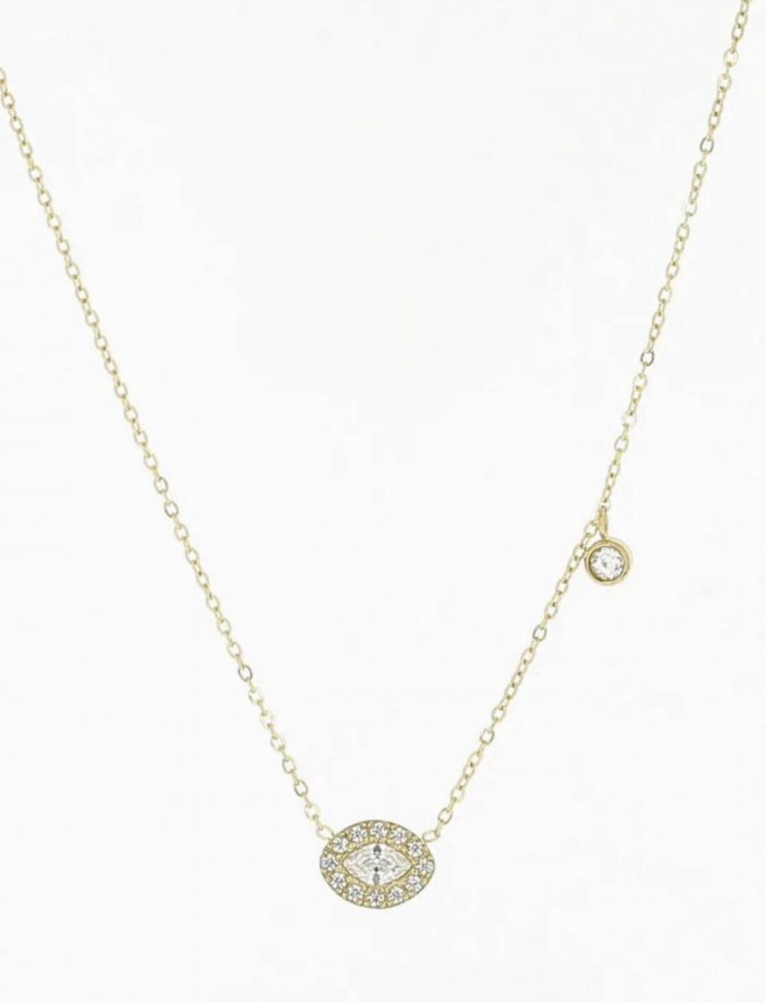Zag Bijoux Chain Glamour Eye | Gold