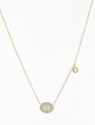 Zag Bijoux Chain Glamour Eye | Gold