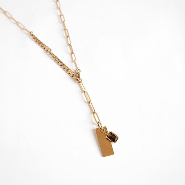 Zag Bijoux Chain Quartz Fume Long | Gold