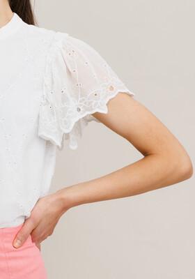 Rut & Circle Astrid Blouse - White Lace