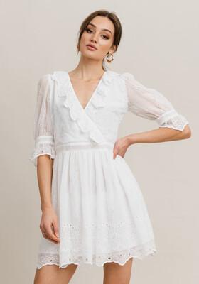 Rut & Circle Astrid Dress - White Lace