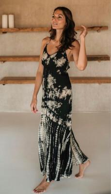 Hippy Chick Ibiza Dress Harmony Batik- Black/White