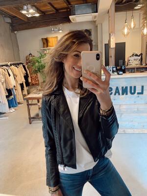 Ibana Bluto Leather Jacket - Black