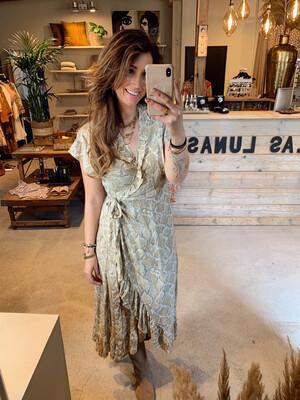 Bindi Dress Snake - Soft Green