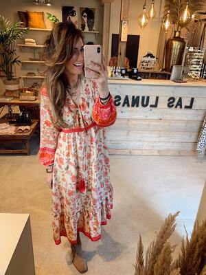 Bindi Dress Boho - Pink/Flower
