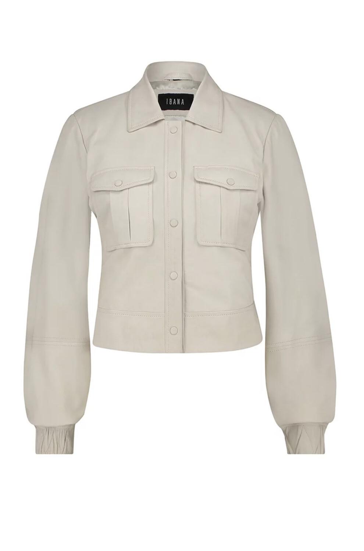 Ibana Leather Jacket Jess - Antique White