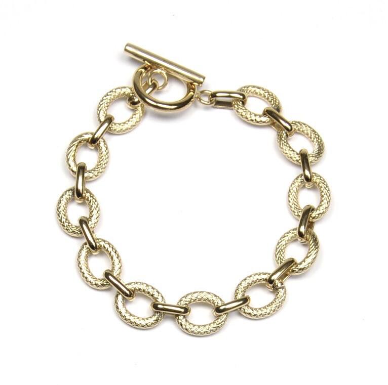 Zag Bijoux Bracelet Luxury Golden Chain Twisted | Goud