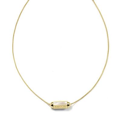 Zag Bijoux Necklace Summer Love Amour Parelmoer | Goud