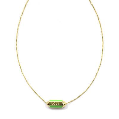 Zag Bijoux Necklace Summer Love Amour Light Green | Goud