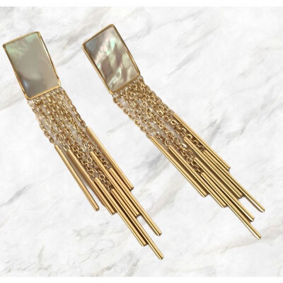 Zag Bijoux Earrings Pearly Sparkle - Goud