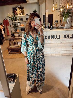 Hippy Chick Ibiza Marigold Dress - Petrol