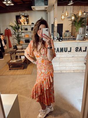 Hippy Chick Ibiza Dress Moana-Salmon