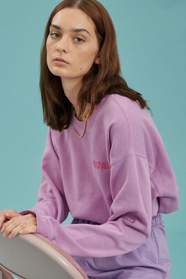 24 Colours Sweater Courage Over Fear - Lila