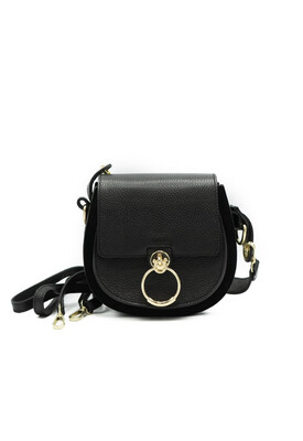 Las Lunas Gianna Bag - Black/Gold