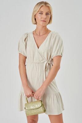 24 Colours Short Dress Yass - Beige