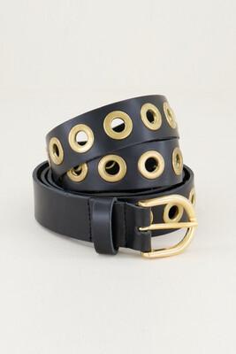Las Lunas Knot Belt Joan - Black/Gold
