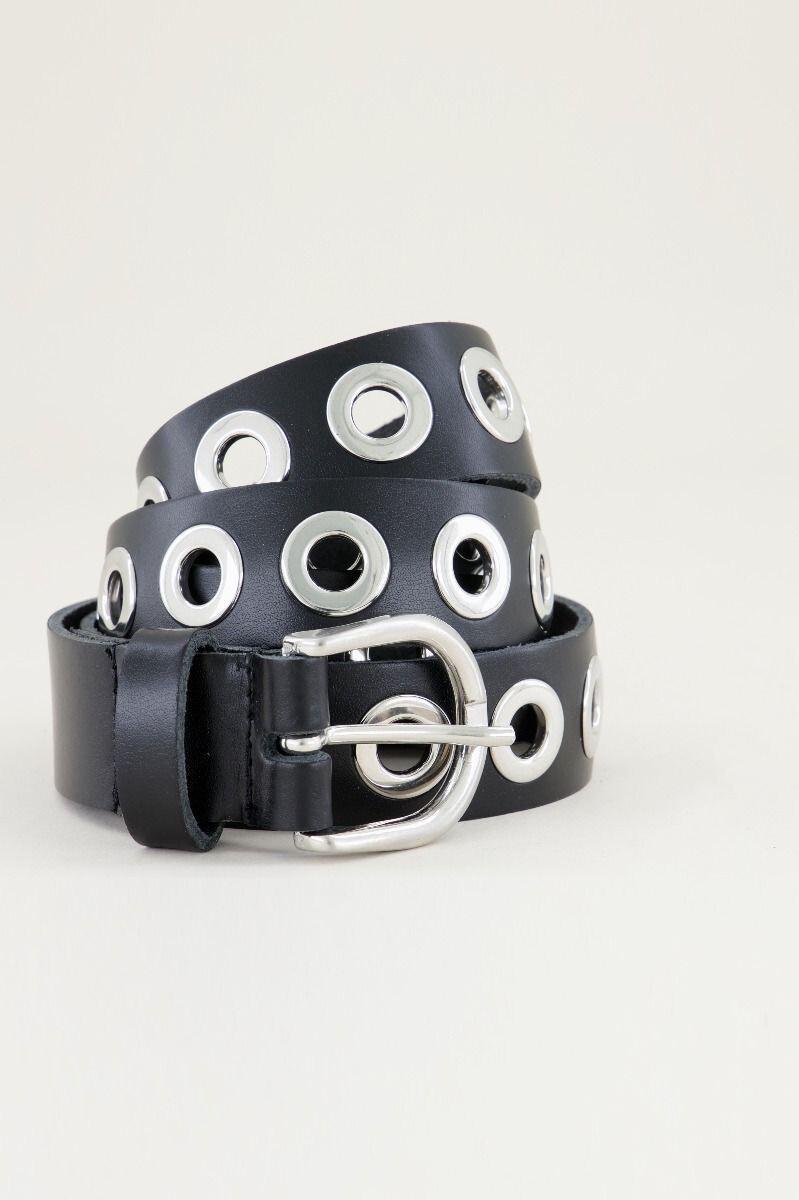 Las Lunas Knot Belt Joan - Black/Zilver