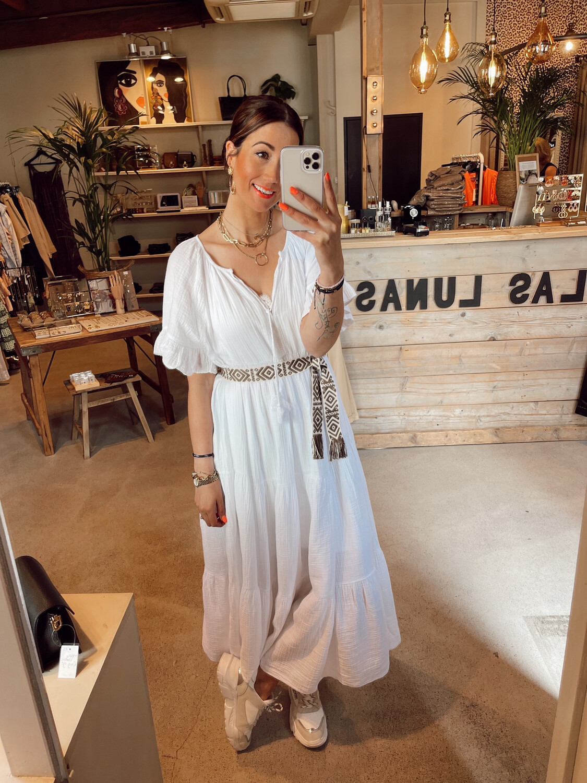 Las Lunas Amalia Dress - White