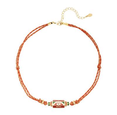 Las Lunas Chain Prayer - Red/White