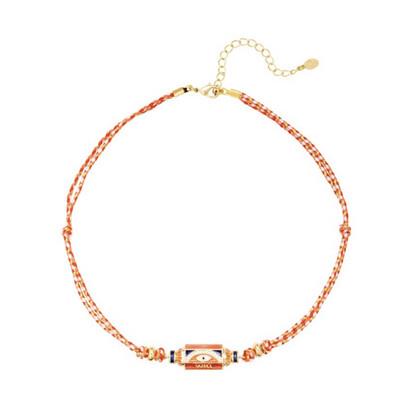 Las Lunas Chain Prayer - Orange/White