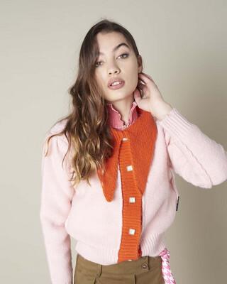 Silvian Heach Cardigan Kegang - Pink/Orange