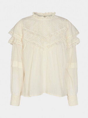Sofie Schnoor - Chloe Lace Blouse - Creme