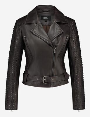 Ibana - Leather Jacket Bell - Dark Brown
