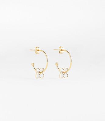 Zag Bijoux - Earrings Pearly Sparkle - Goud