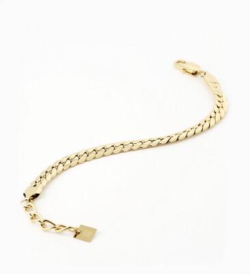 Zag Bijoux Bracelet Snake Chain   Goud