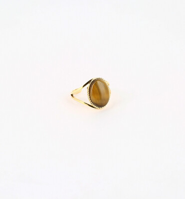 Zag Bijoux Ring Cornelia Stone    Gold - Brown