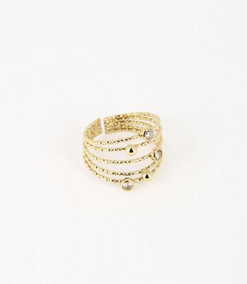 Zag Bijoux Ring Fan   Gold