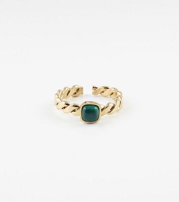 Zag Bijoux Ring Tresse | Goud - Green