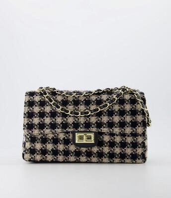 Las Lunas Bag Audrey - Medium Black/Beige